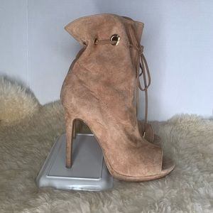 Steve Madden Open Toe Lace Up Ankle Boots Size 9